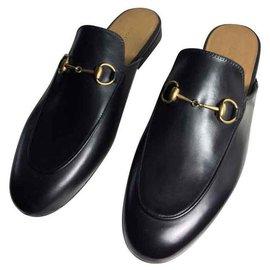 Gucci-Gucci Mules Princetown en cuir-Noir