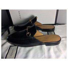 Gucci-Gucci Mules Princetown en cuir new sleepers-Noir