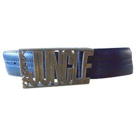 Kenzo-KENZO CEINTURE BOUCLE JUNGLE-Bleu Marine