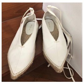 Céline-Celine White espadrilles flats EU37-White