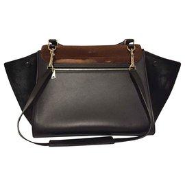 Céline-Handbags-Brown,Black