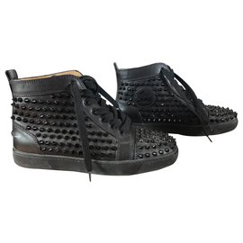 Christian Louboutin-Louis woman spikes-Noir
