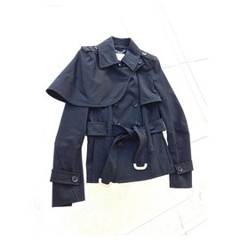 Céline-CELINE trench coat jacket-Black