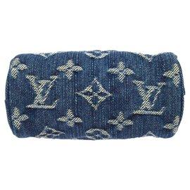 Louis Vuitton-bijoux de sac en jeans-Bleu