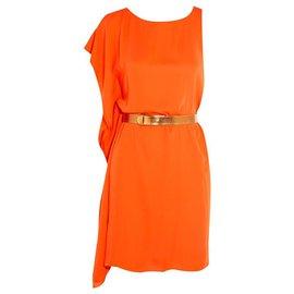 Halston Heritage-HALSTON HERITAGE DRESS-Orange