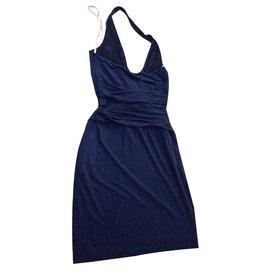 Halston Heritage-HALSTON HERITAGE DRESS-Blue,Navy blue