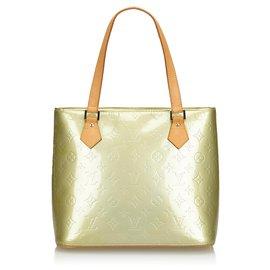 Louis Vuitton-Louis Vuitton Yellow Vernis Houston-Jaune