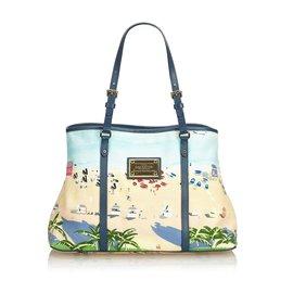 Louis Vuitton-Louis Vuitton Blue Ailleurs Cabas Promenade PM-Bleu,Multicolore