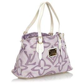 Louis Vuitton-Louis Vuitton Purple Monogram Tahitienne Cabas PM-Blanc,Violet