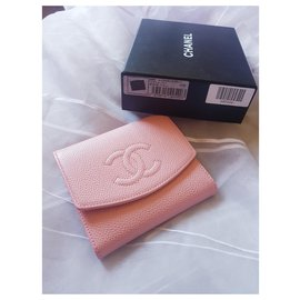 Chanel-Chanel coco wallet in pink caviar leather-Pink