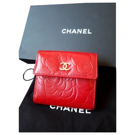 Chanel-Chanel camelia wallet-Red