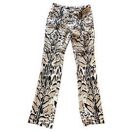 Roberto Cavalli-Pantalons, leggings-Multicolore