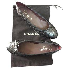 Chanel-ballerines chanel-Noir