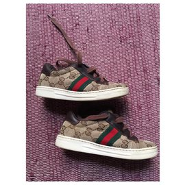 Gucci-Gucci children's shoes-Brown