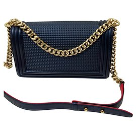 Chanel-chanel boy-Blue,Navy blue,Dark blue