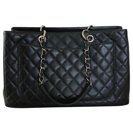 Chanel-Grand shopping-Gris,Gris anthracite