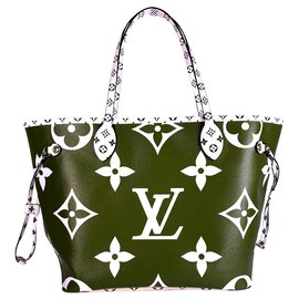 Louis Vuitton-Neverfull-Kaki