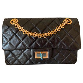 Chanel-black 2.55 Reissue Quilted Single Flap Bag-Black