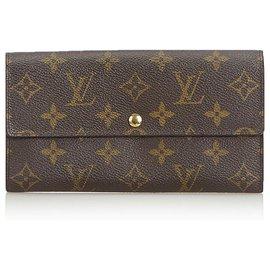 Louis Vuitton-Portefeuille Sarah Monogram Brown de Louis Vuitton-Marron