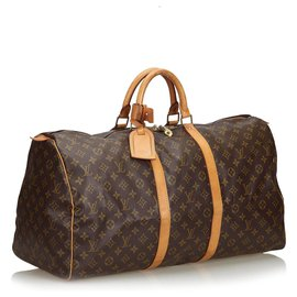 Louis Vuitton-Louis Vuitton Keepall Monogram Brown 55-Marron