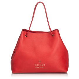 Gucci-Sac cabas Gifford en cuir rouge de Gucci-Rouge