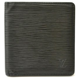 Louis Vuitton-Portefeuille Louis Vuitton Compact à 2 volets-Noir