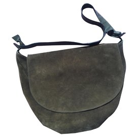 Bottega Veneta-bottega half moon bag-Olive green