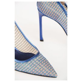 Dior-DIOR SHOES TALONS ET POMPES BRILLANTS 10CM M-Bleu