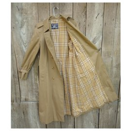 Burberry-vintage Burberry trench color coffee perfect condition-Caramel