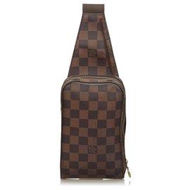 Louis Vuitton-Louis Vuitton Brown Damier Ebene Geronimos-Marron