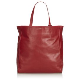 8823d4818b Yves Saint Laurent-YSL Red North South Reversible Tote Bag-Red ...