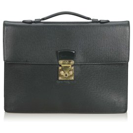 Louis Vuitton-Aktentasche Louis Vuitton Black Taiga Serviette Kourad-Schwarz