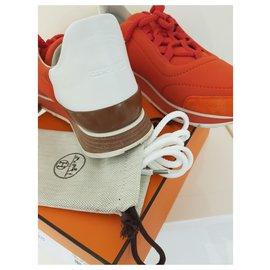Hermès-Miles sneakers-Blanc,Orange