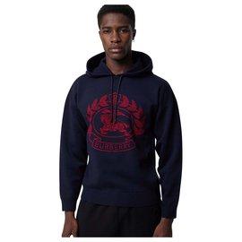burberry Mixed merino wool jacquard hoodie with badge