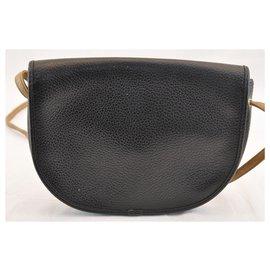 Dior-Dior Leather Shoulder Bag-Black