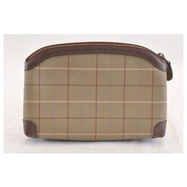 Burberry-Burberry Nova Check Clutch Bag-Brown