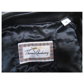 Thomas Burberry-blouson Thomas Burberry en simili cuir-Noir