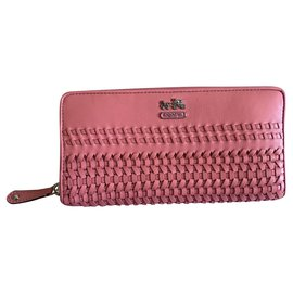 Coach-Coach woven long wallet-Pink