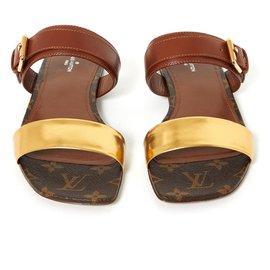 Louis Vuitton-OLD BOM DIA FR38.5 NEW-Marron,Doré
