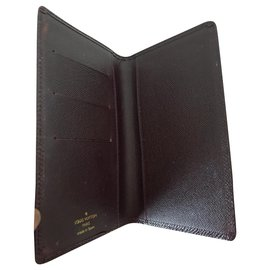 Louis Vuitton-Taiga Long portefeuille et porte-cartes SET-Cognac