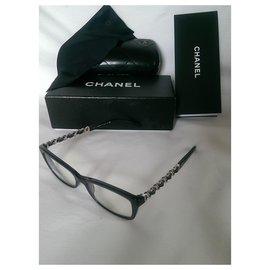Chanel-Des lunettes de soleil-Argenté,Bleu