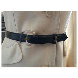 Yves Saint Laurent-Belle ceinture vintage Yves Saint Laurent-Bleu Marine