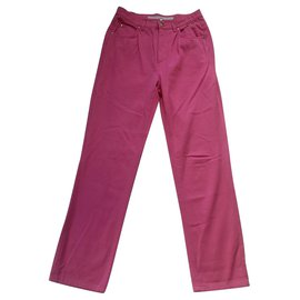 Escada-Pants, leggings-Pink
