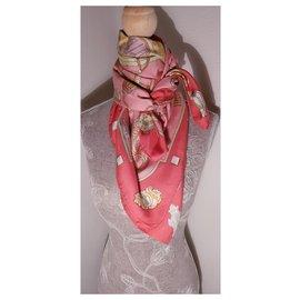 Hermès-Scarves-Pink