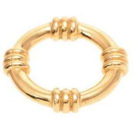 Hermès-Hermes scarf ring-Yellow