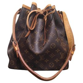 Louis Vuitton-Noé-Beige,Marron foncé
