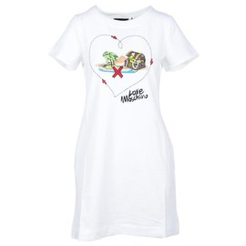 Love Moschino-Moschino robe nouvelle-Blanc