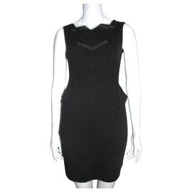 Diane Von Furstenberg-Robe DvF Vintage en laine-Noir