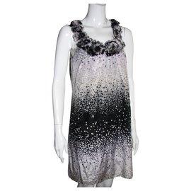 Ted Baker-robe en soie mélangée-Noir,Rose,Blanc,Gris,Gris anthracite