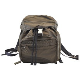 Prada-Prada backpack-Khaki